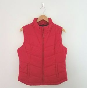 Aeropostale red puff vest size large